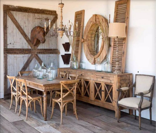 Park Hill Collection Wooden Cross Chairs The Alley Exchange