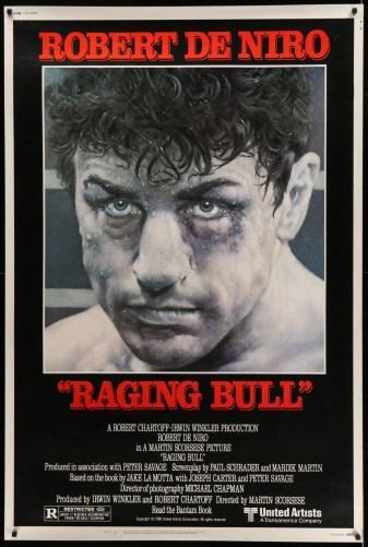 Raging Bull Vintage Movie Poster   40x60 Original Film Poster   6249