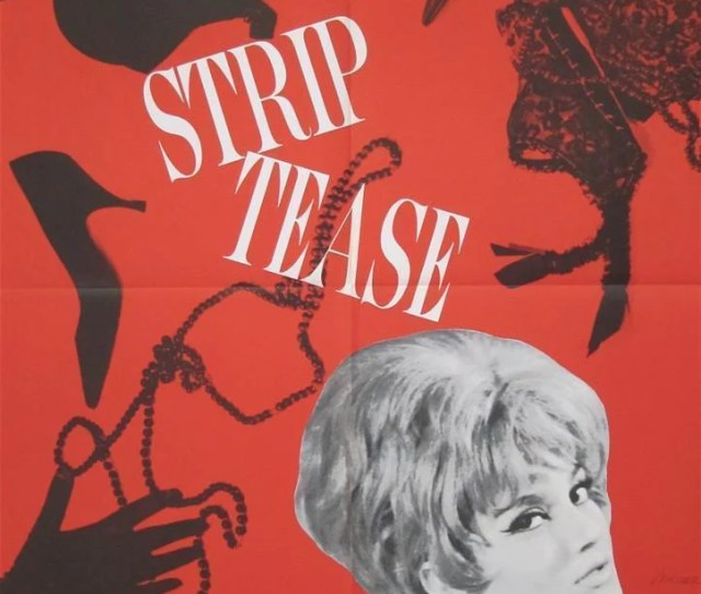 Strip Tease Striptease French Small X Original Vintage Movie Poster