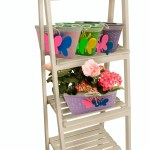 5 Tiered Wooden Ladder Plant Stand Wholesale Displays Planters