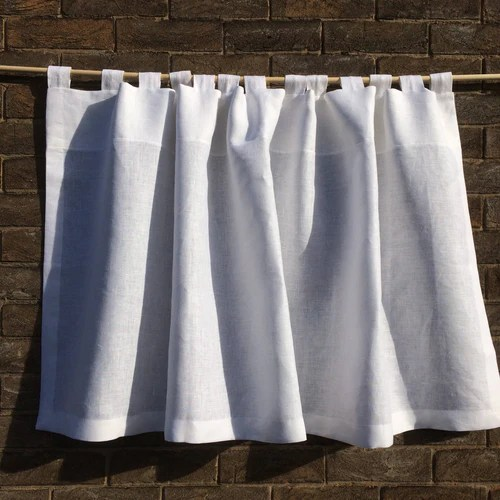 french sheer linen cafe curtains