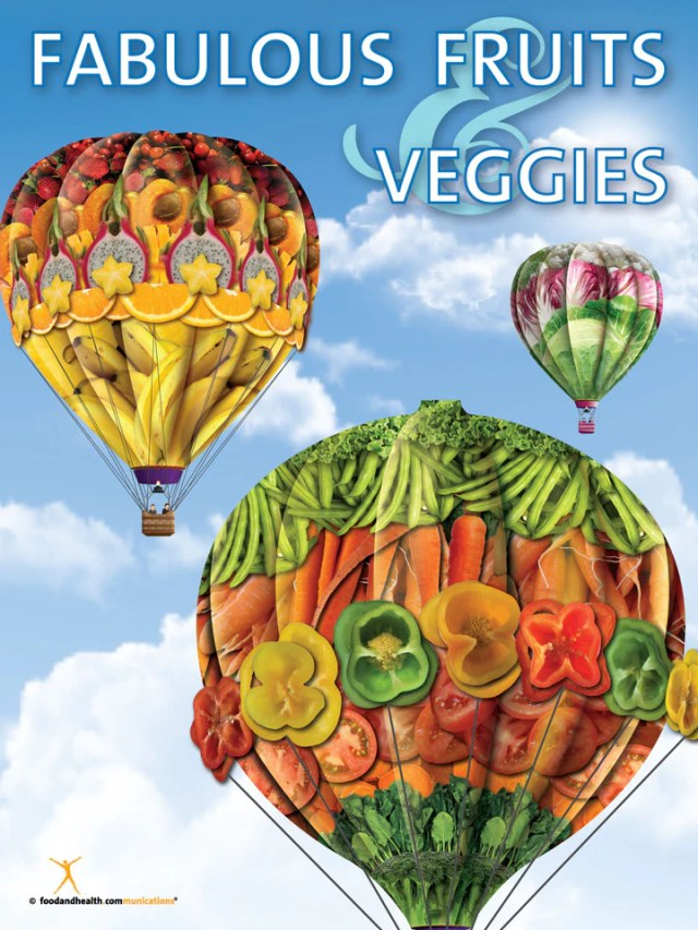 Fabulous Fruits and Vegetables Poster - Nutrition Education Store