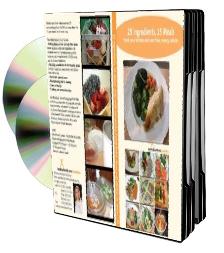 25 Ingredients Into 15 Fast Healthy Meals DVD/CD Video PowerPoint Nutrition Education DVD - Nutrition Education Store