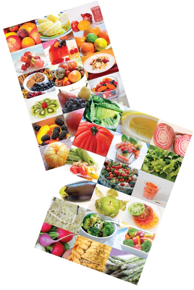 Fruit and Veggie Photo Combo Poster Set 12X18 - Nutrition Education Store