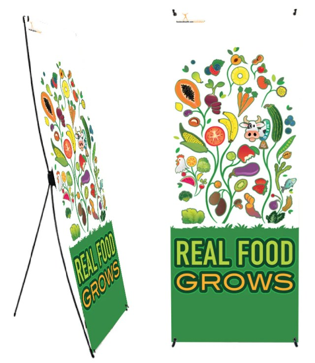 Real Food Grows Banner Stand 24