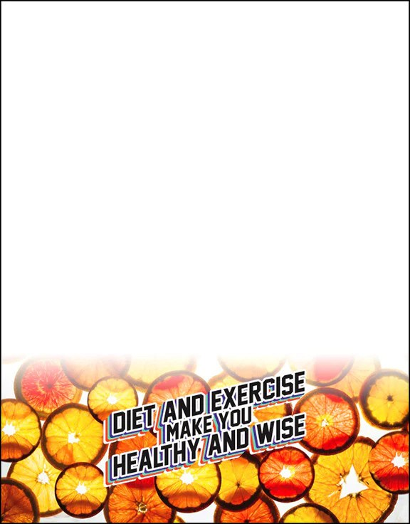 Diet and Exercise Make You Healthy And Wise Orange