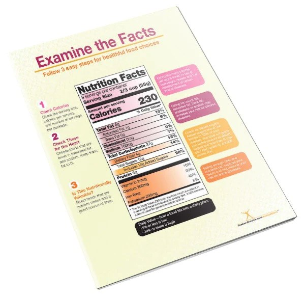 New Food Label Handout Tearpad - Nutrition Education Store