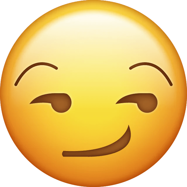 Download Smirk Face Iphone Emoji Icon in JPG and AI ...