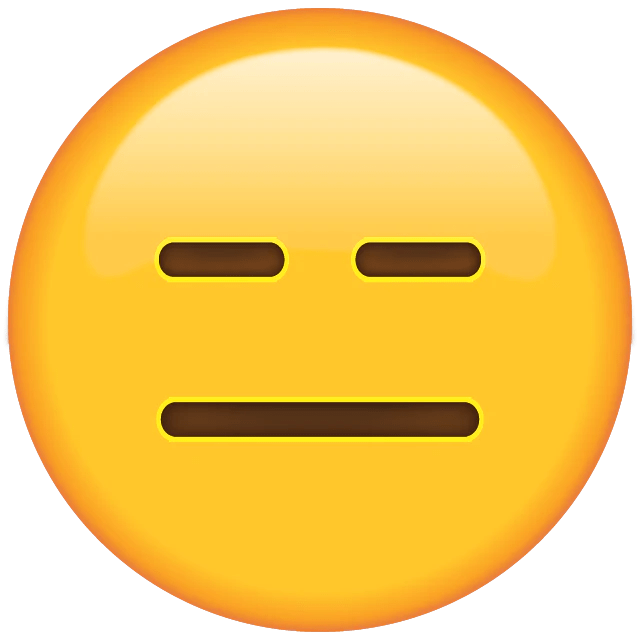 Image result for expressionless face emoji
