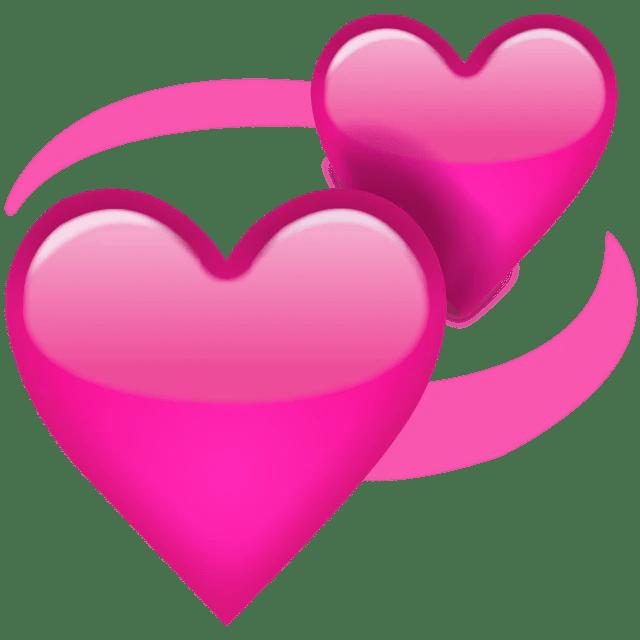 Download Download Revolving Pink Hearts Emoji Icon | Emoji Island