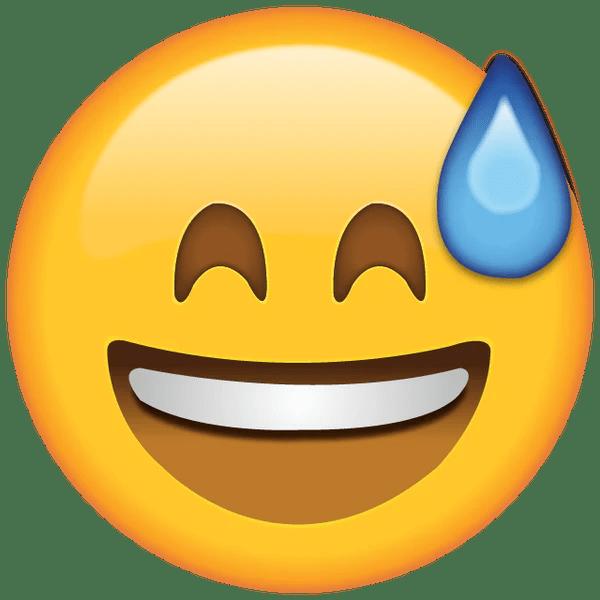 Bildergebnis für :sweat: emoji