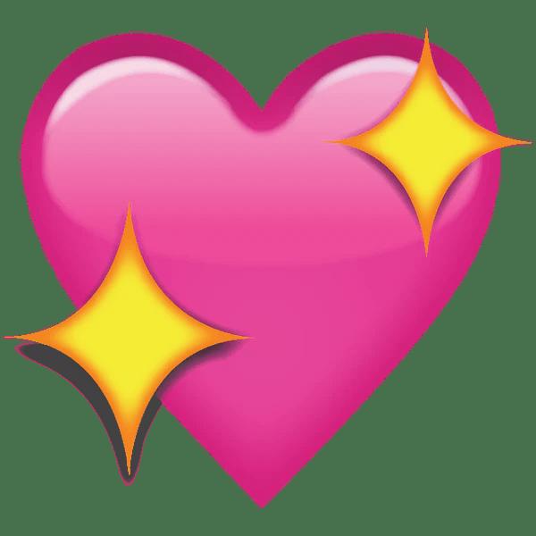 Download Download Sparkling Pink Heart Emoji Icon | Emoji Island