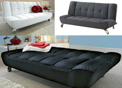 Vogue Faux Leather Sofa Bed Gliforg