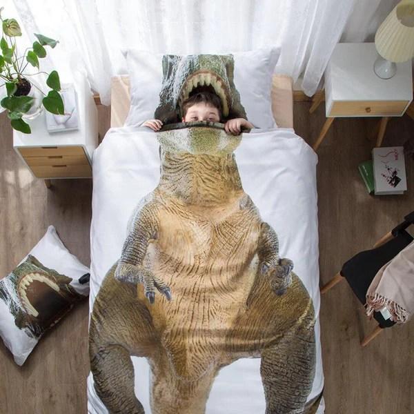 Dinosaur 3d Bedding Dino Duvet Twin Cover Pillow Case T