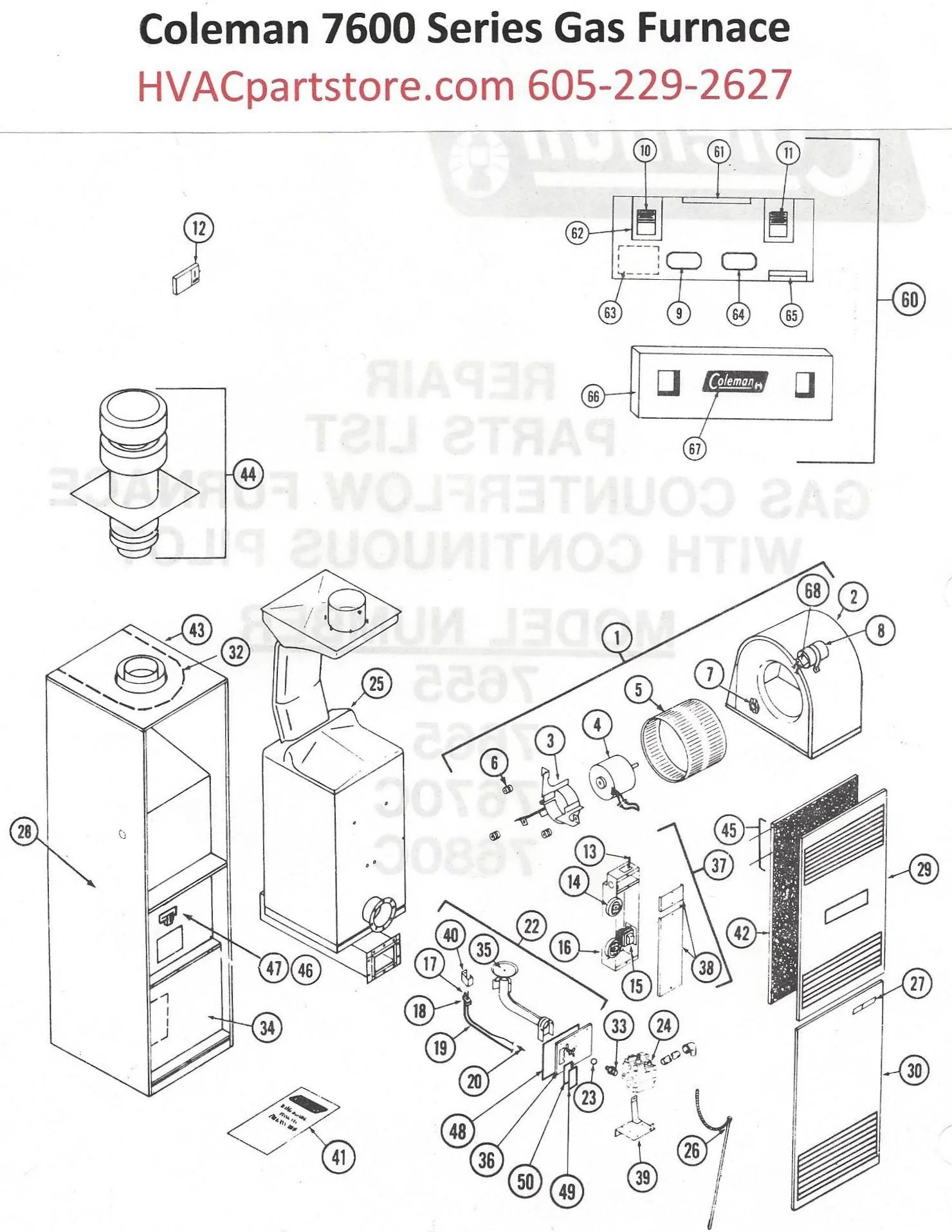 Coleman Evcon Thermostat Wiring Diagram Coleman Evcon
