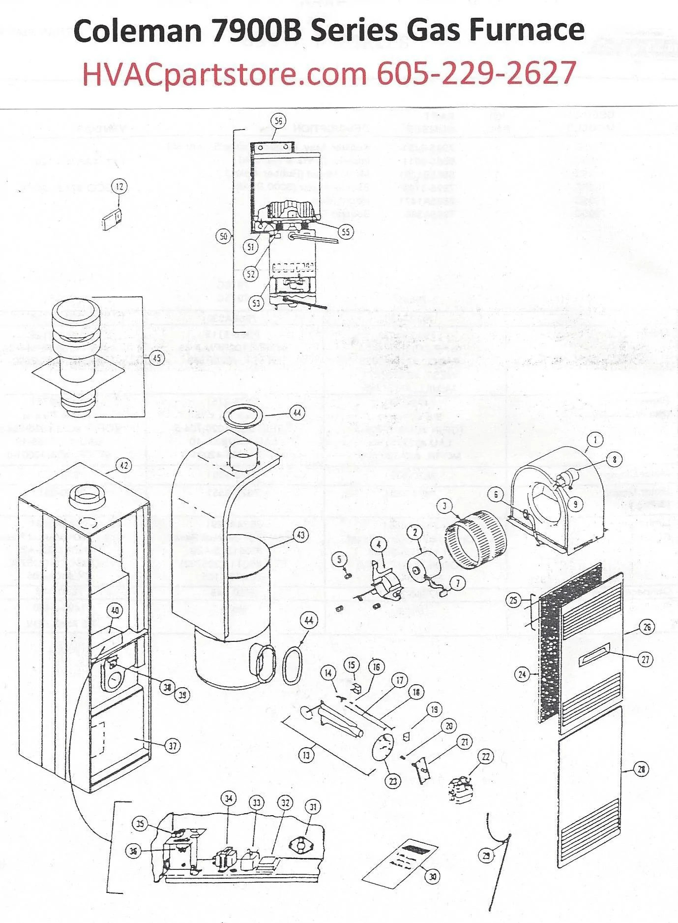 7966B856 Coleman Gas Furnace Parts – HVACpartstore