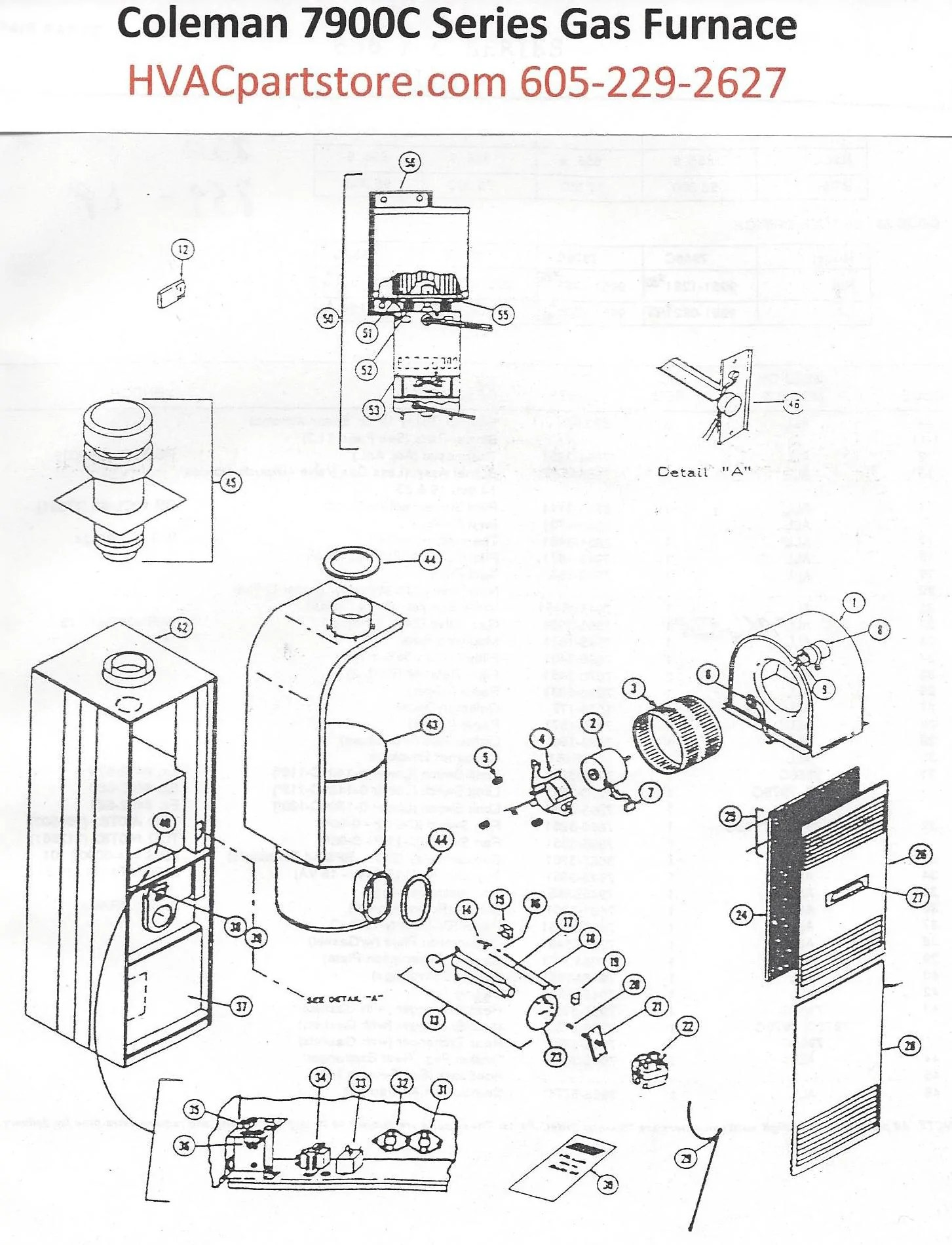 7956C856 Coleman Gas Furnace Parts – Tagged