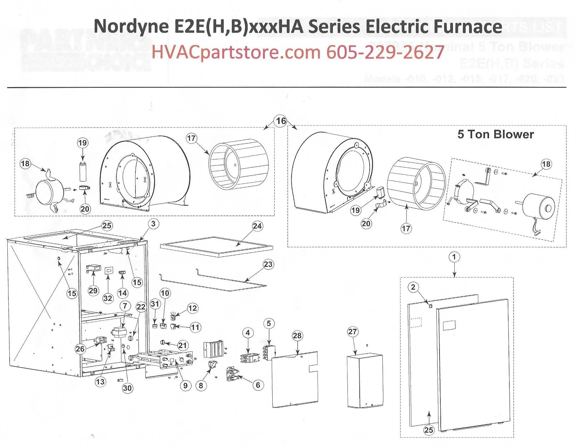 E2EB017HB Nordyne Electric Furnace Parts – HVACpartstore