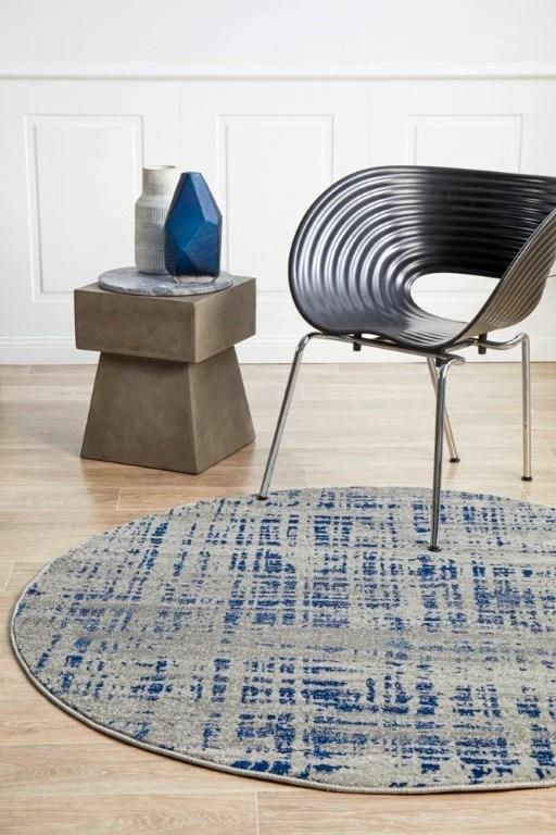 miranda 352 navy blue round rug