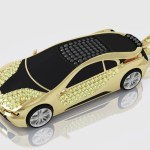14k Or 18k Gold Bmw I8 Yellow And Diamond Pendant Uverly