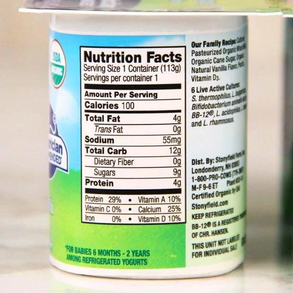 Yogurt Yobaby Organic Stonyfield. >
