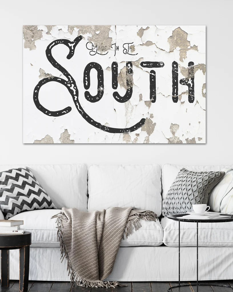 Made in the South - Modern Farmhouse Decor Wall Art ... on Home Wall Decor Signs id=30762