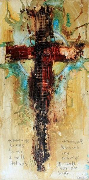 Cross Art Prints Abstract Cross Art Print With Psalm 91