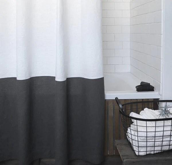 best linen shower curtain rough linen