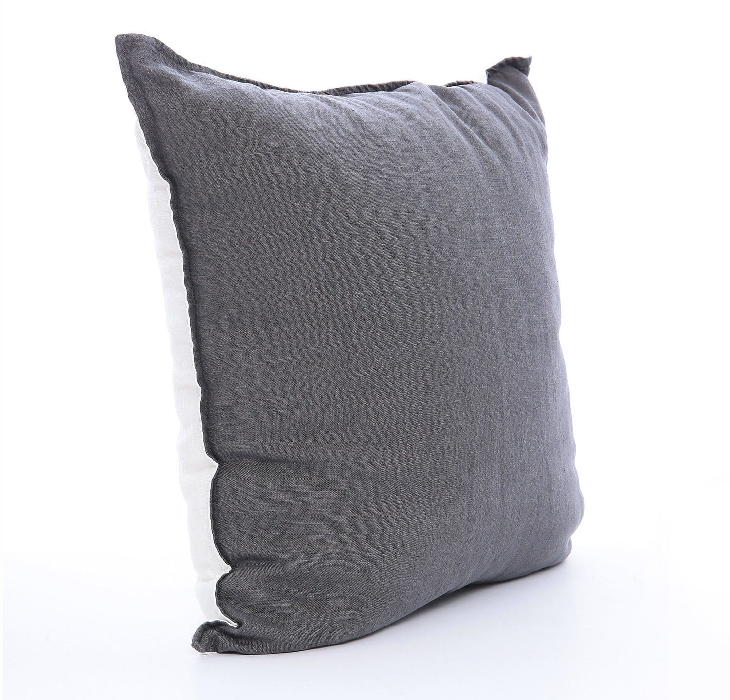 Best Linen Throw Pillow Cover Two Tone By Rough Linen