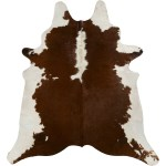 Saddlemans Cowhide Rug Brown White Regular