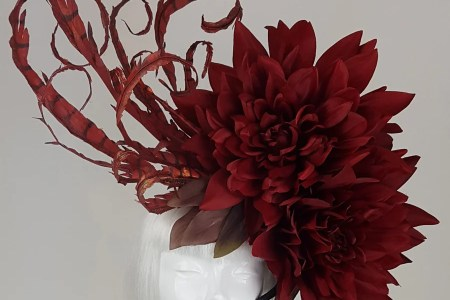 Millinery flowers uk flower images 2018 flower images flower petershams lucinda extra large silk cm rose millinery flower handcrafted bespoke silk flowers for hats and headwear by millfields fs lily spray mightylinksfo