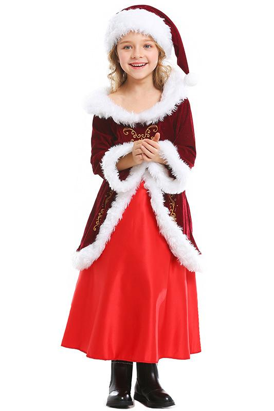 Mrs Santa Claus Suit Christmas Costume Kids Santa Outfit Girls Hallowitch Costumes