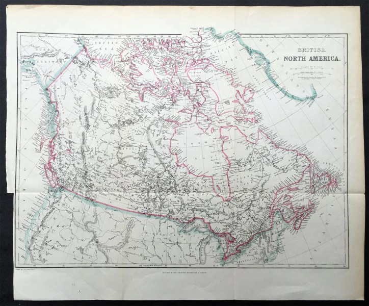 1860 Blackie   Son Map British North America   Canada   The Great Lakes 1860 Blackie   Son Map British North America   Canada   The Great Lakes