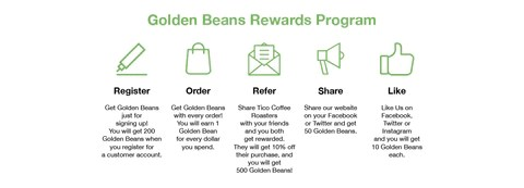 Earning Points with Golden Beans Rewards