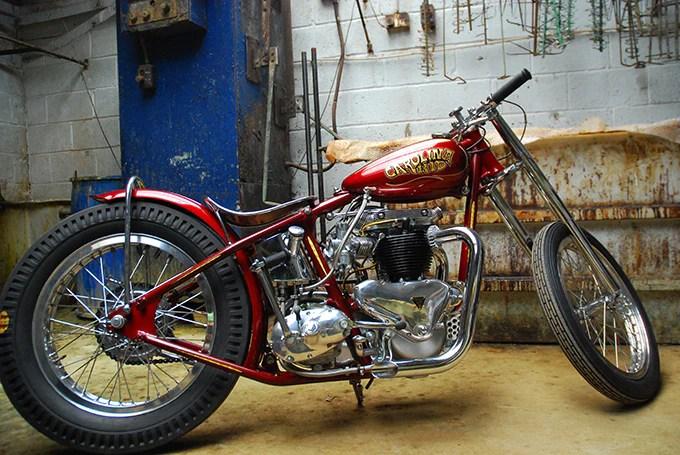 The Carolina Kid 1951 Triumph Thunderbird Drag Bike Built