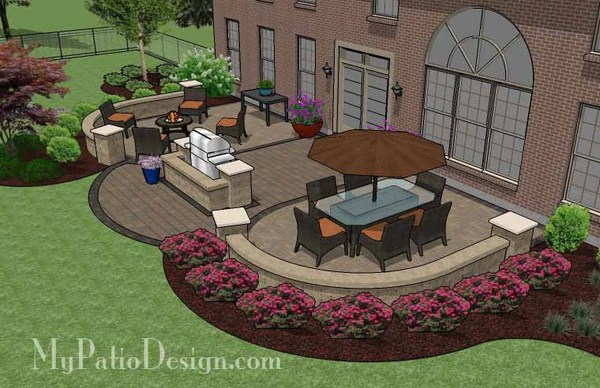 845 sq. ft. - Arcs Patio Design with Grill Station and ... on My Patio Design  id=16319