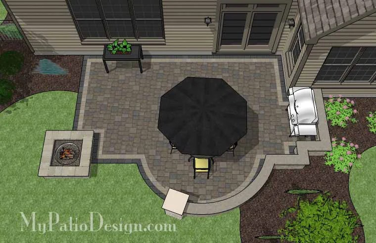 """Corner Patio Design for 6' """"L"""" Shaped Homes ... on Patio Shape Designs id=28357"""