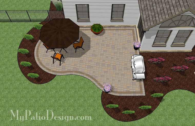 Cheap Backyard Patio Design | Downloadable Plan ... on Economical Patio Ideas  id=61717