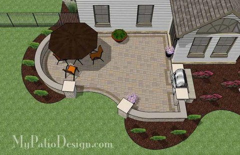 """Corner Patio Designs for 8' """"L"""" Shaped Homes ... on Patio Shape Designs id=59575"""