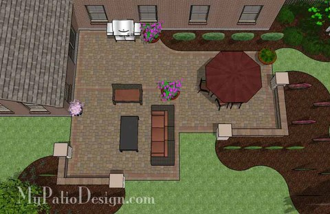 """Corner Patio Designs for 10' """"L"""" Shaped Homes ... on Patio Shape Designs id=63556"""