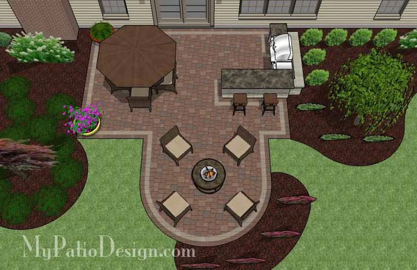 Creative Backyard Patio Design with Grill Station-Bar ... on Patio Grill Station  id=13438