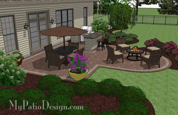 530 sq. ft. - Creative Backyard Patio Design with Grill ... on Patio Grill Station  id=15222