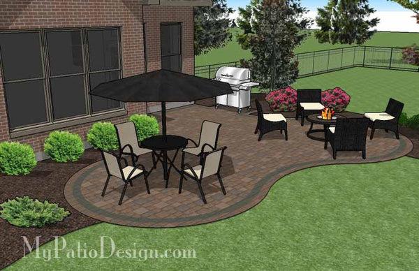 Curvy Backyard Patio Design | Download Patio Plan ... on My Patio Design  id=16401