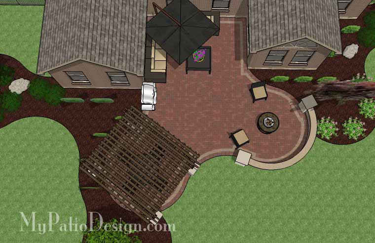 6. Patio Designs for Courtyards or U Shaped Homes ... on Patio Shape Designs id=63547