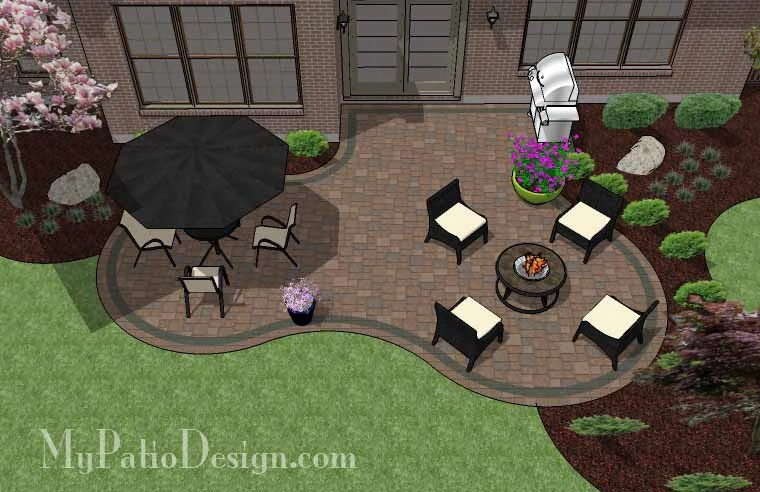 """Corner Patio Designs for 4' """"L"""" Shaped Homes ... on Patio Shape Designs id=98333"""