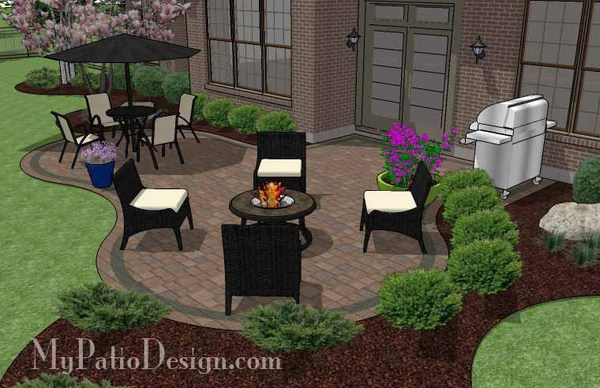 Curvy Patio Design | Patio Layout and Material List ... on My Patio Design id=77907