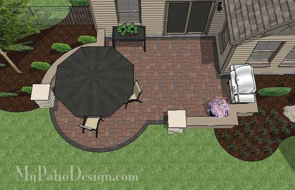 DIY Budget Friendly Patio Design with Seat Wall ... on My Patio Design  id=68113