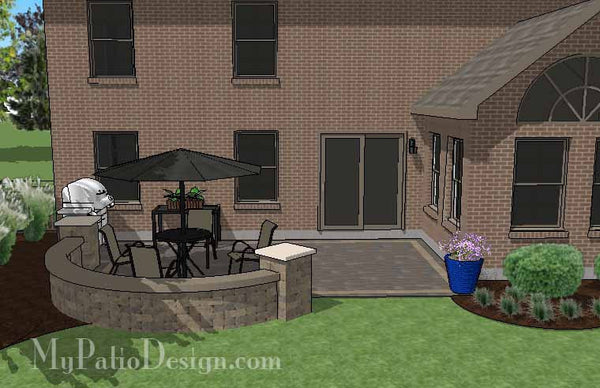 Diy Cozy Outdoor Living Design With Seat Wall