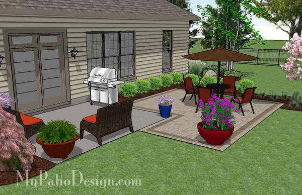 DIY Patio Addition Design   Downloadable Plan ... on Diy Small Patio Ideas id=32677