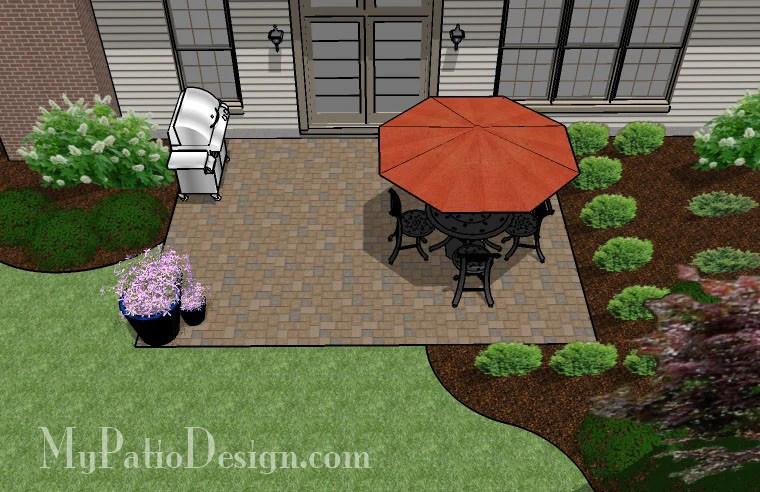 300 sq ft diy paver patio design